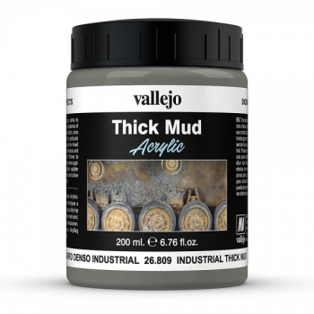 Industrial Thick Mud 200ml - Vallejo